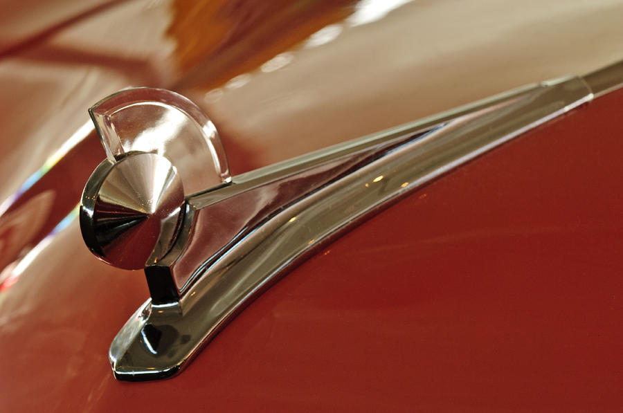 1949 Ford Custom Hood Ornament Photograph  - 1949 Ford Custom Hood Ornament Fine Art Print
