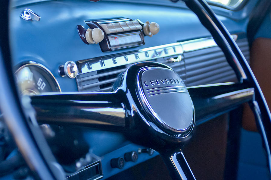 1950 Chevrolet 3100 Pickup Truck Steering Wheel Photograph