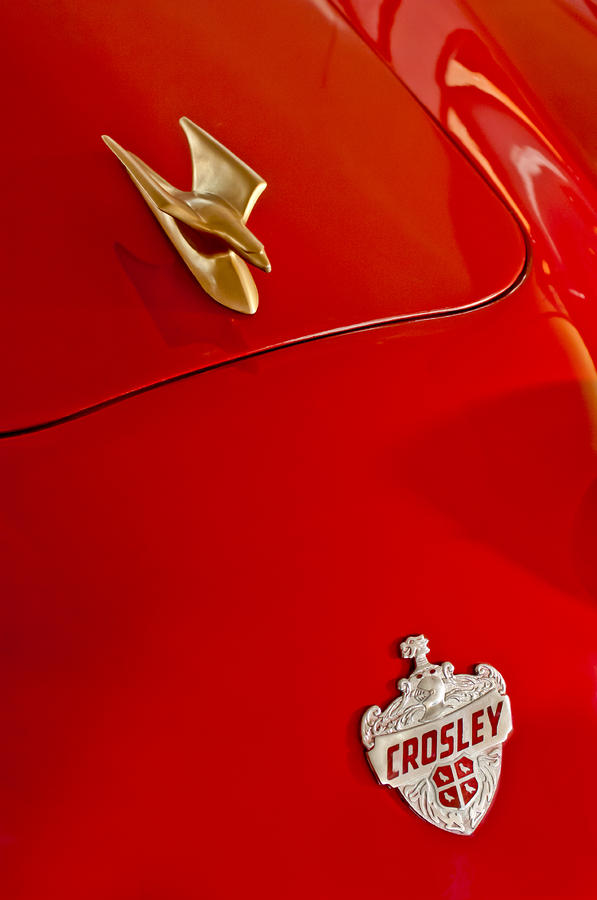 1951 Crosley Hot Shot Hood Ornament Photograph  - 1951 Crosley Hot Shot Hood Ornament Fine Art Print