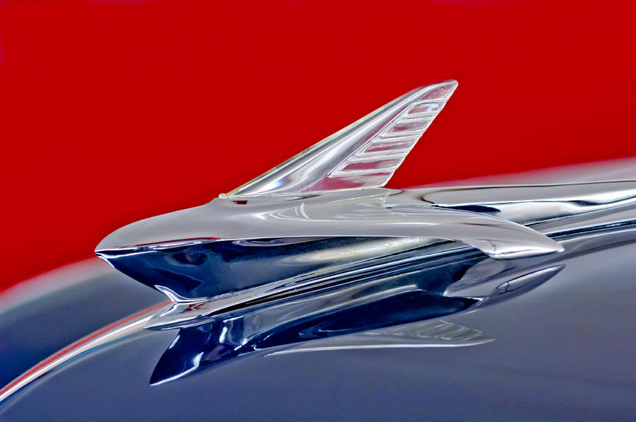 1951 Ford Woodie Hood Ornament Photograph  - 1951 Ford Woodie Hood Ornament Fine Art Print