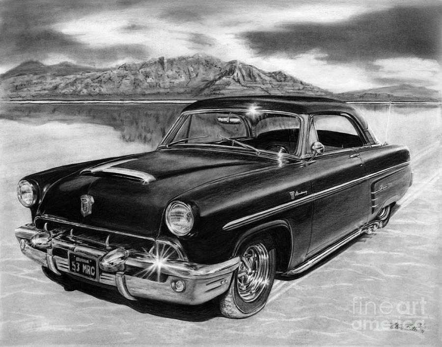 1953 Mercury Monterey On Bonneville Drawing
