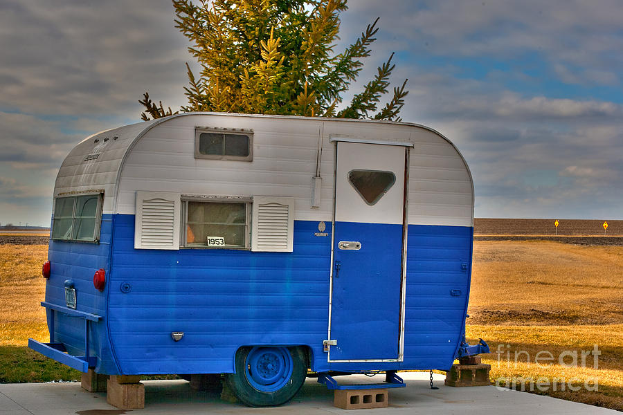 1953 Pull Behind Camper Photograph by Alan Look