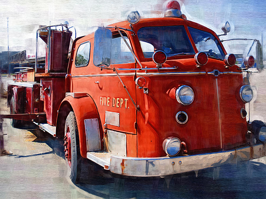 1954 American Lafrance Classic Fire Engine Truck Photograph