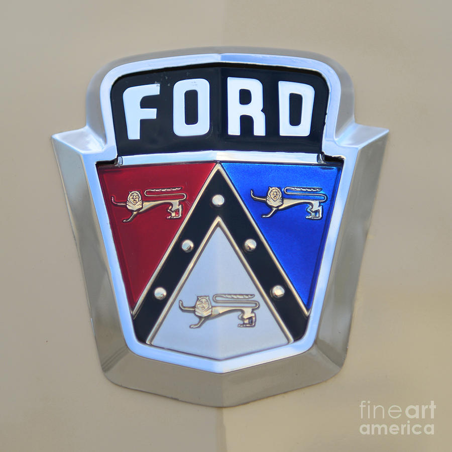 Ford Racing Apparel >> 1954 Ford Customline Emblem Close Up Photograph by Paul Ward