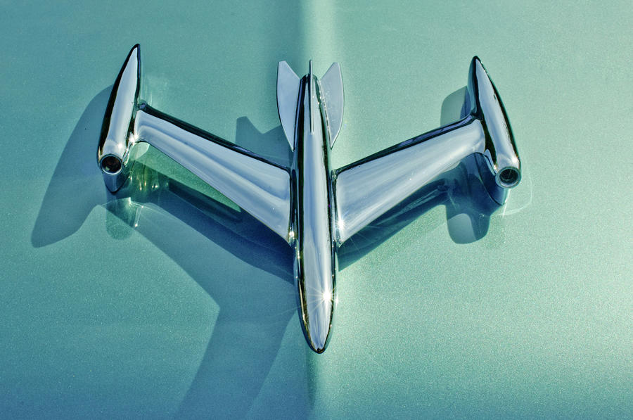 1954 Oldsmobile Super 88 Hood Ornament 2 Photograph  - 1954 Oldsmobile Super 88 Hood Ornament 2 Fine Art Print
