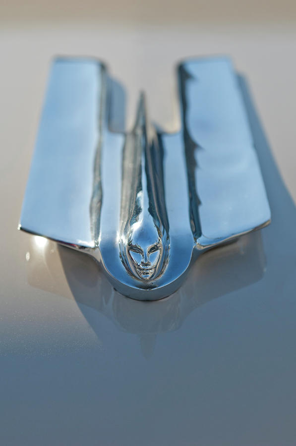 1955 Cadillac Coupe Hood Ornament Photograph  - 1955 Cadillac Coupe Hood Ornament Fine Art Print