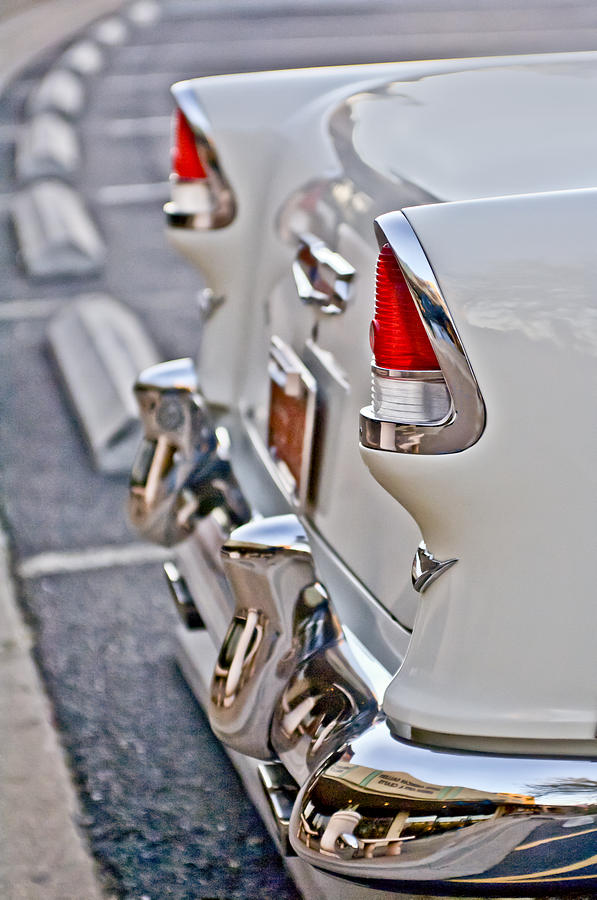 1955 Chevrolet Belair Tail Lights Photograph  - 1955 Chevrolet Belair Tail Lights Fine Art Print