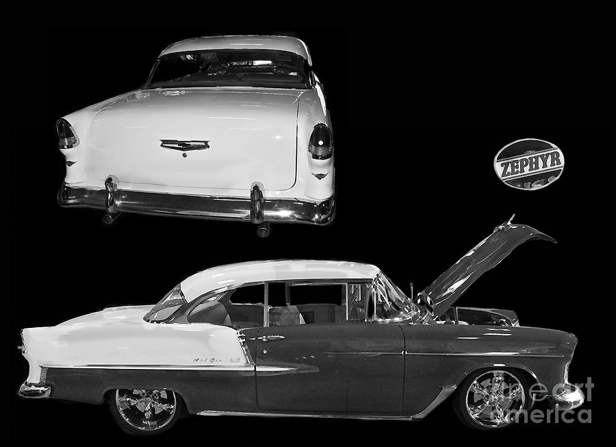 Gm General Motors Company Photograph - 1955 Chevy Bel Air 2 Door Hard Top by Tim Mulina