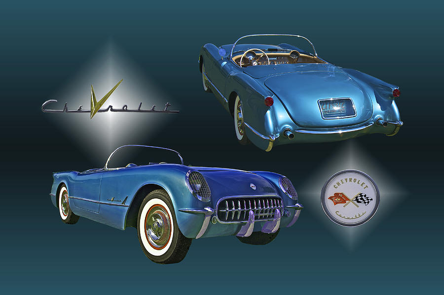 1955 Corvette - 68 Of 700 Built Photograph  - 1955 Corvette - 68 Of 700 Built Fine Art Print