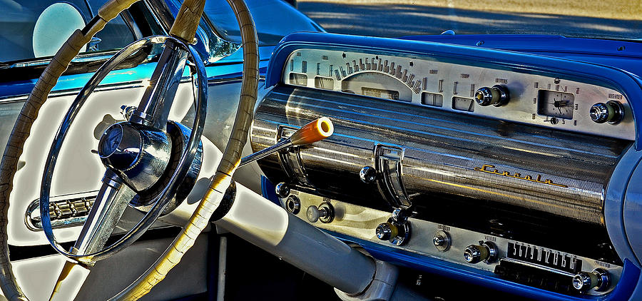 1955 Lincoln Capri Dash Photograph By Bill Owen