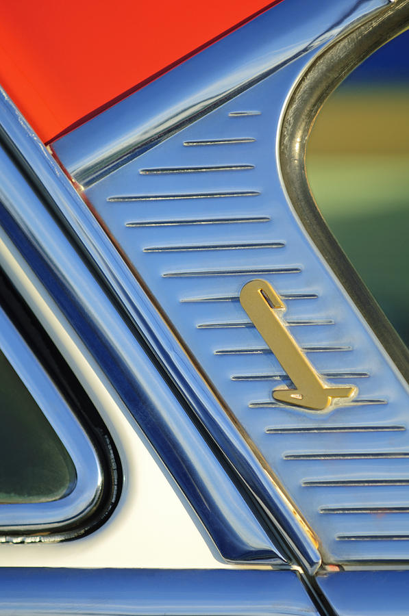 1955 Lincoln Capri Emblem Photograph