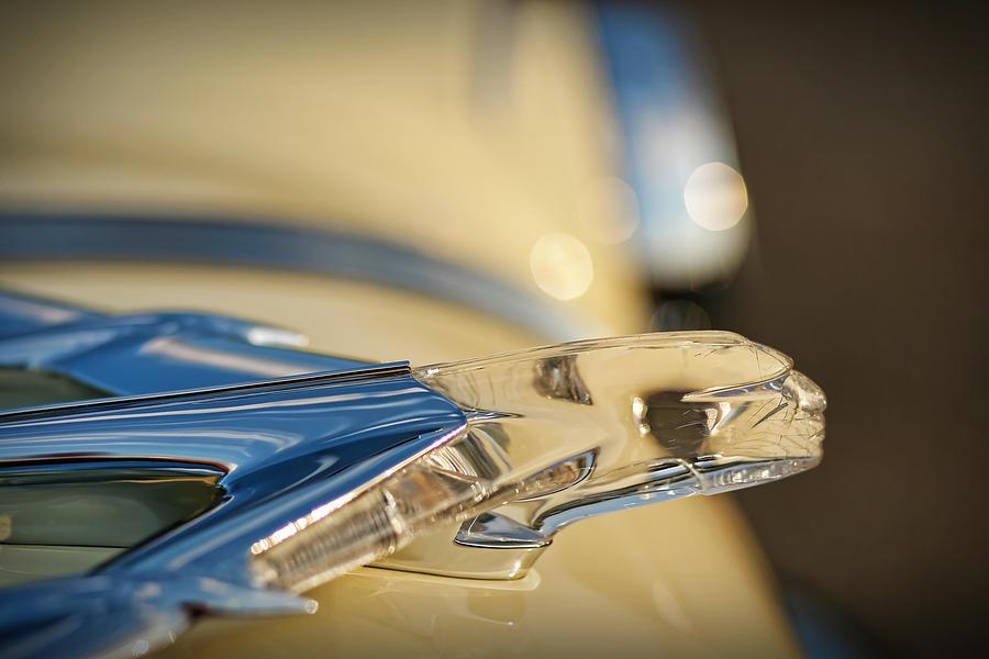 1955 Photograph - 1955 Pontiac Star Chief Hood Ornament  by Gordon Dean II