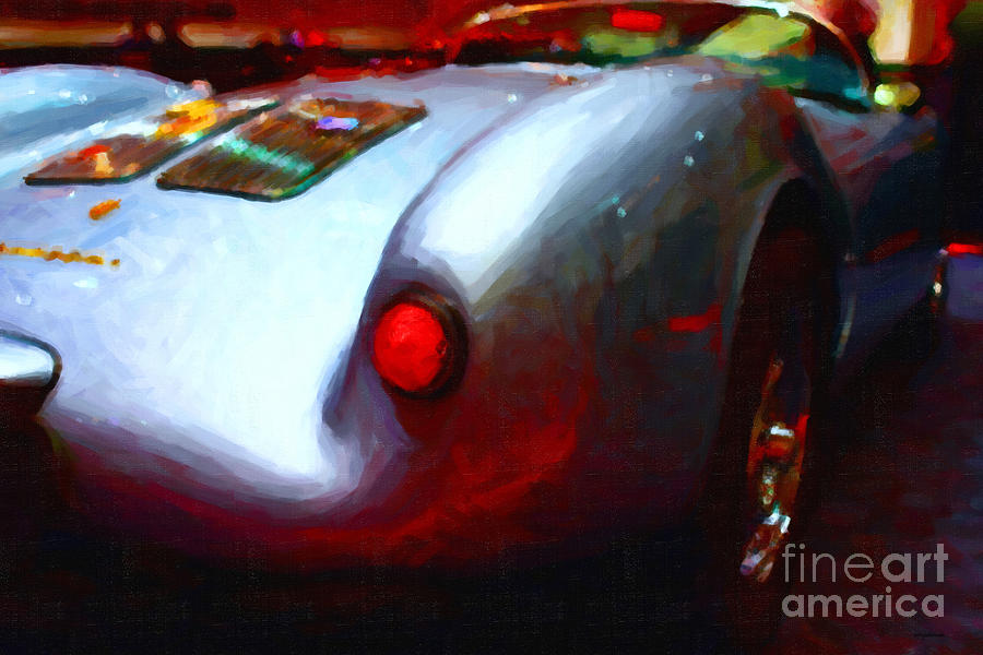 1955 Porsche 550 Rs Spyder . Painterly Style Photograph