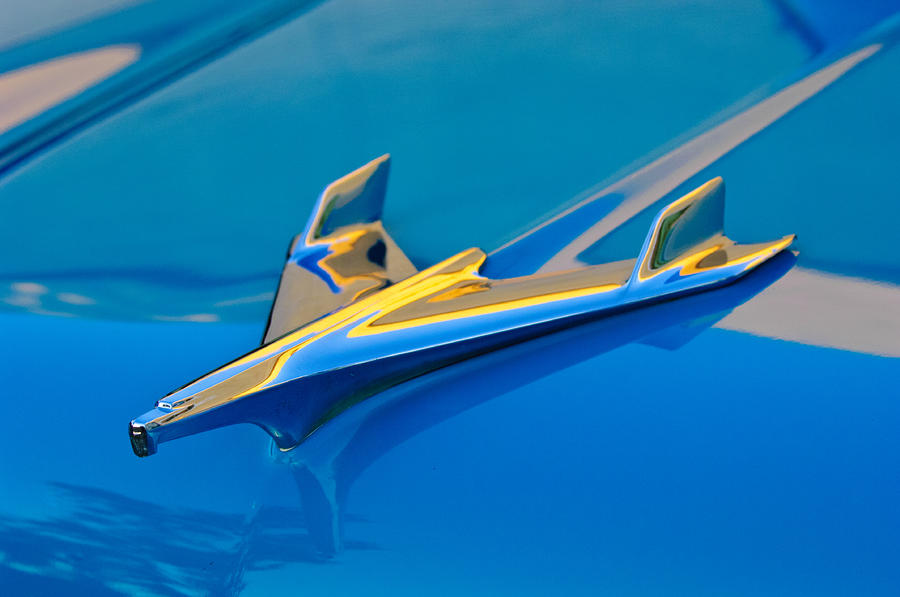 1956 Chevrolet Hood Ornament 2 Photograph  - 1956 Chevrolet Hood Ornament 2 Fine Art Print