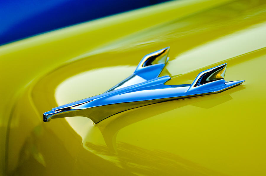 1956 Chevrolet Hood Ornament Photograph  - 1956 Chevrolet Hood Ornament Fine Art Print