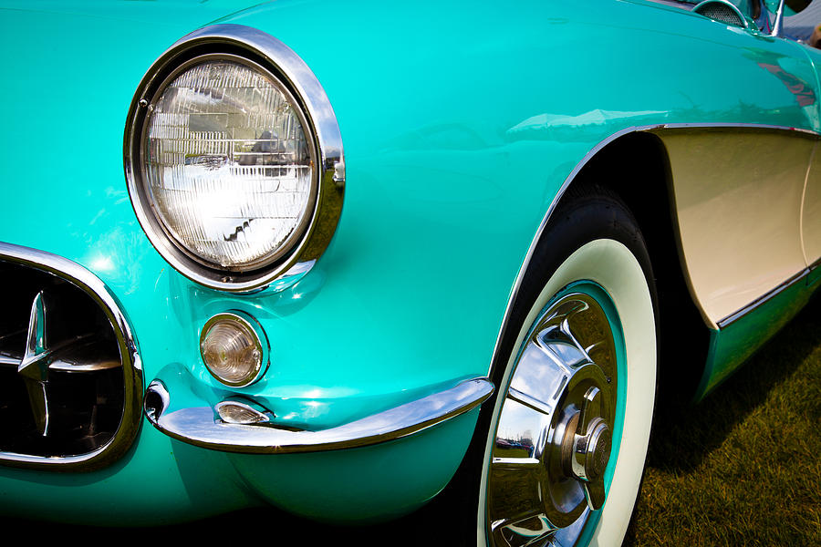1956 Chevy Corvette Photograph  - 1956 Chevy Corvette Fine Art Print