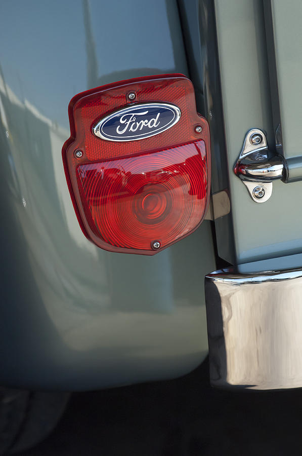 1956 Ford F-100 Truck Photograph - 1956 Ford F-100 Truck Taillight by Jill Reger