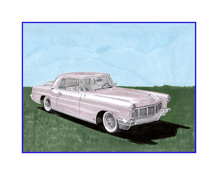 1956 Lincoln Continental Mk II Painting