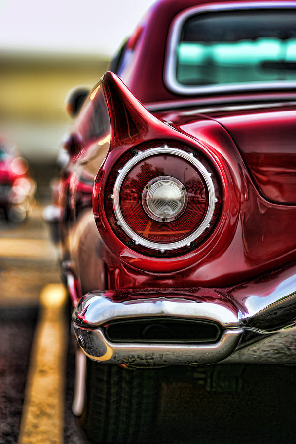 1957 Ford Thunderbird Red Convertible Photograph  - 1957 Ford Thunderbird Red Convertible Fine Art Print