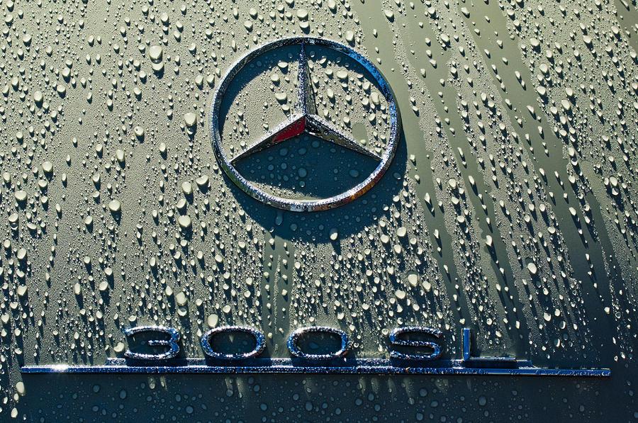 1957 Mercedes Benz 300sl Roadster Emblem Photograph