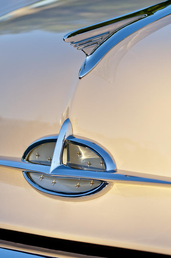 1957 Oldsmobile Hood Ornament 7 Photograph  - 1957 Oldsmobile Hood Ornament 7 Fine Art Print