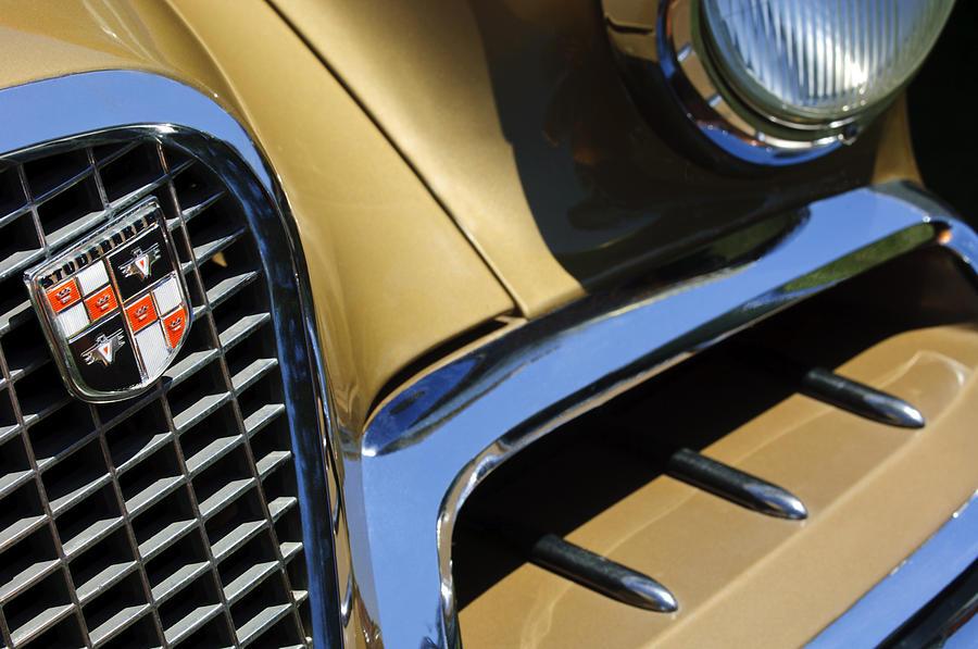 1957 Studebaker Golden Hawk Hardtop Grille Emblem Photograph by Jill Reger
