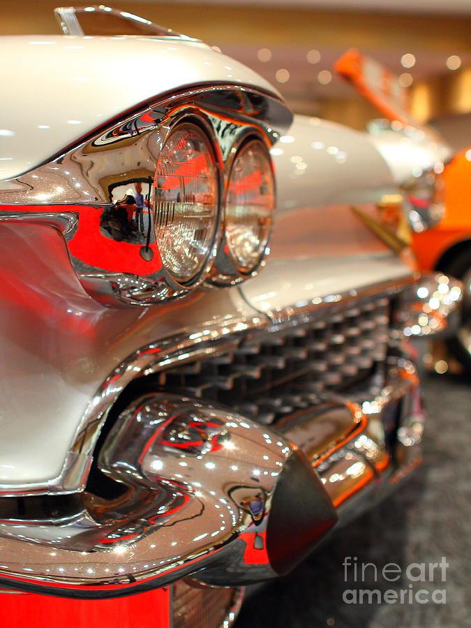 1958 Cadillac Eldorado Biarritz Convertible . Silver . 7d9427 Photograph