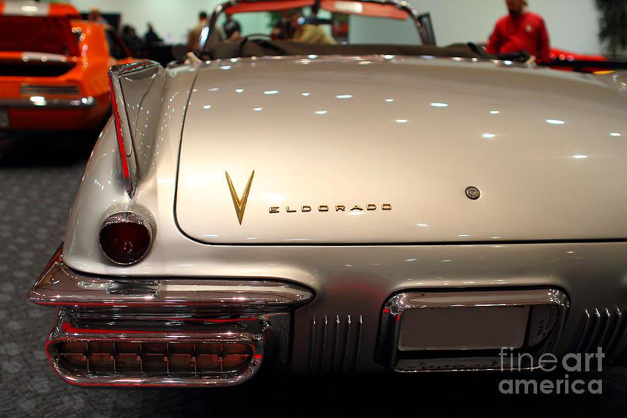 1958 Cadillac Eldorado Biarritz Convertible . Silver . 7d9466 Photograph