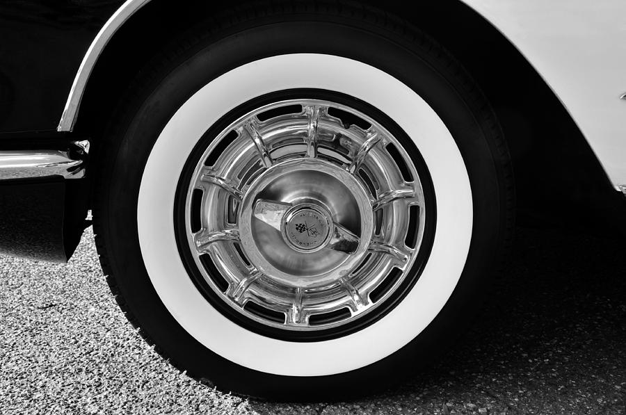 1958 Corvette White Walls Photograph