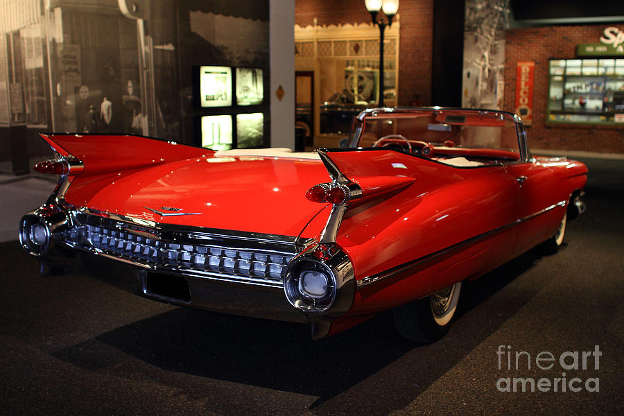 Transportation Photograph - 1959 Cadillac Convertible - 7d17376 by Wingsdomain Art and Photography