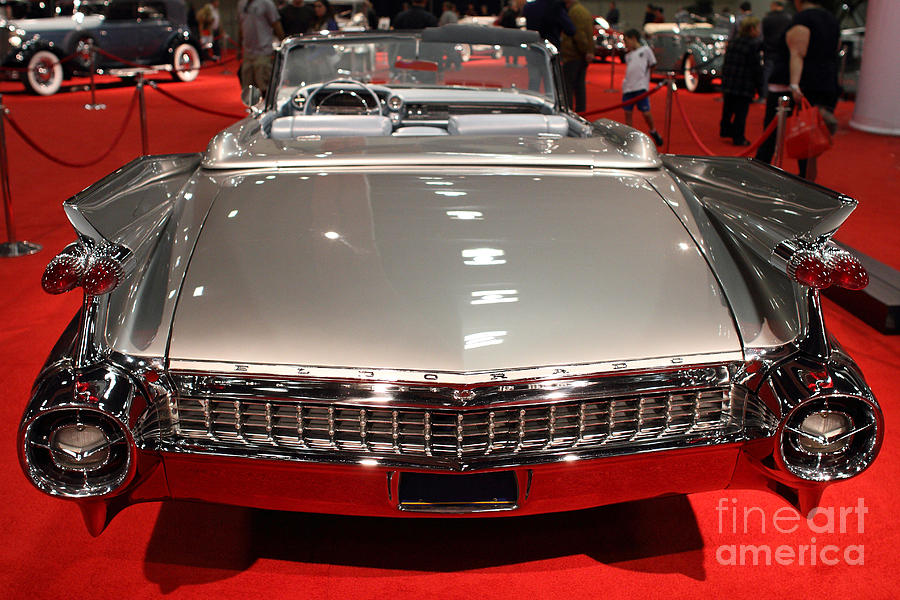 1959 Cadillac Eldorado Convertible . Rear View Photograph  - 1959 Cadillac Eldorado Convertible . Rear View Fine Art Print