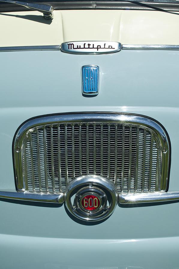 1959 Fiat Multipia Photograph - 1959 Fiat Multipia Hood Emblem by Jill Reger