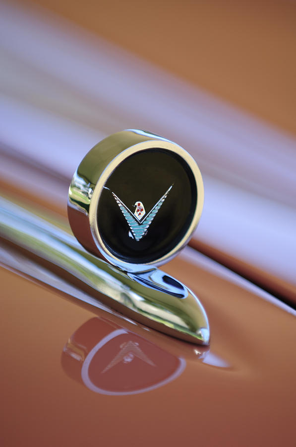 1959 Ford Thunderbird Convertible Hood Ornament Photograph  - 1959 Ford Thunderbird Convertible Hood Ornament Fine Art Print