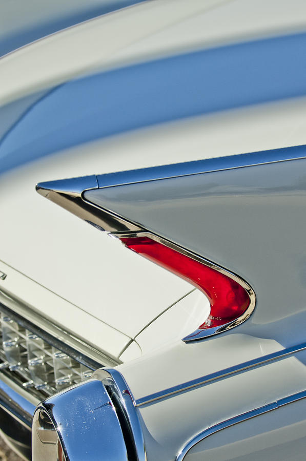 1960 Cadillac Eldorado Biarritz Taillight Photograph  - 1960 Cadillac Eldorado Biarritz Taillight Fine Art Print