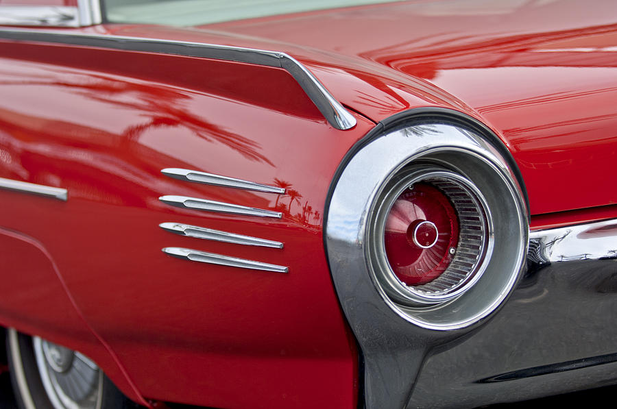 1961 Ford Thunderbird Taillight Photograph  - 1961 Ford Thunderbird Taillight Fine Art Print