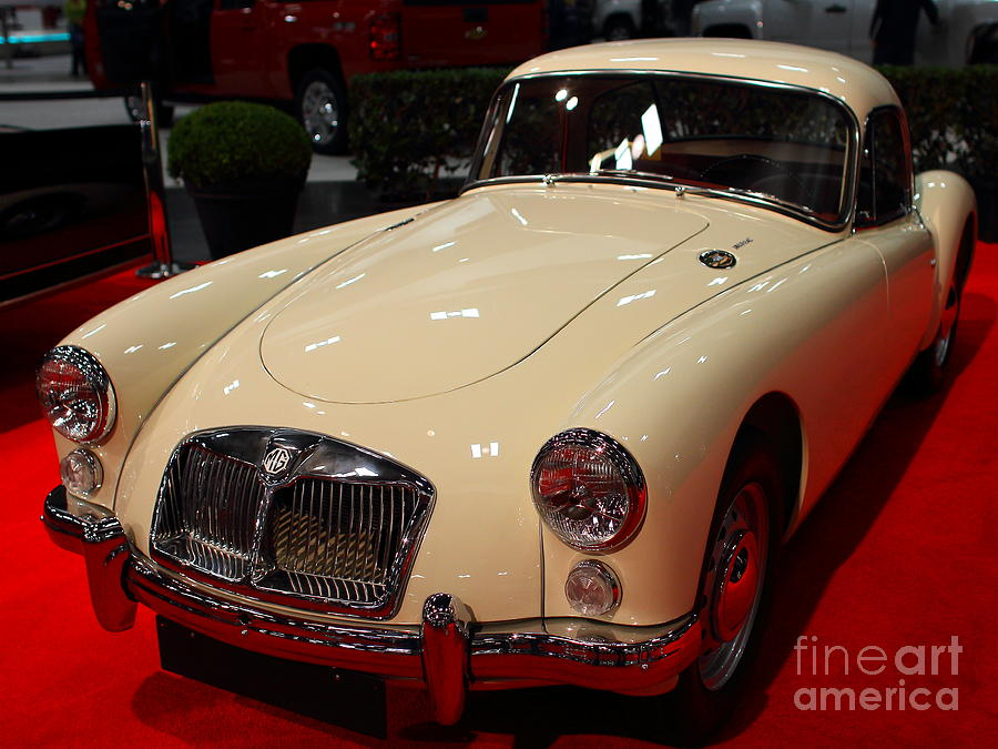 1962 Mg A 1600 Mark II Coupe . Vanilla White . 7d9325 Photograph  - 1962 Mg A 1600 Mark II Coupe . Vanilla White . 7d9325 Fine Art Print