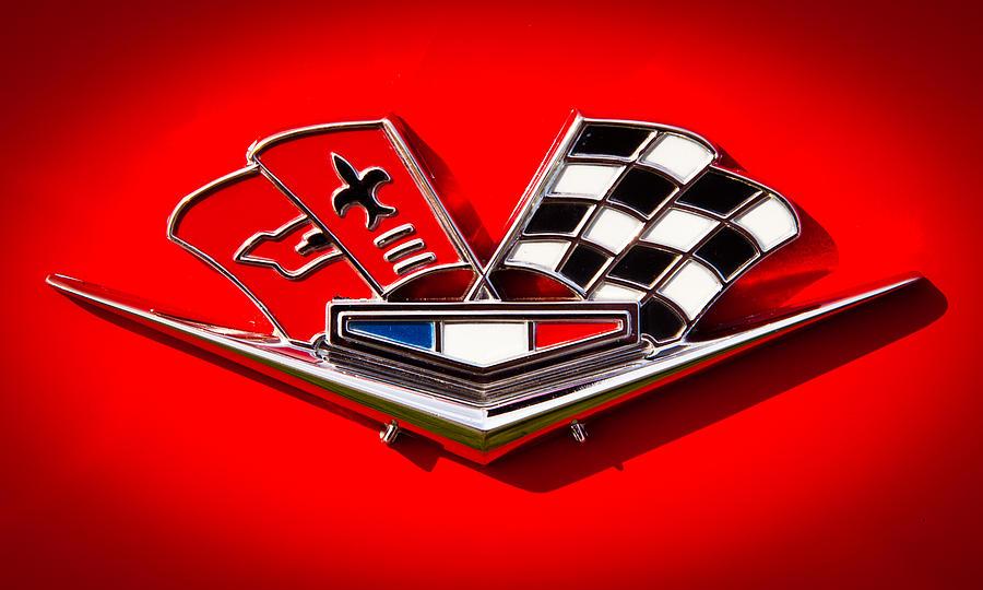 63 Photograph - 1963 Chevy Corvette Emblem by David Patterson