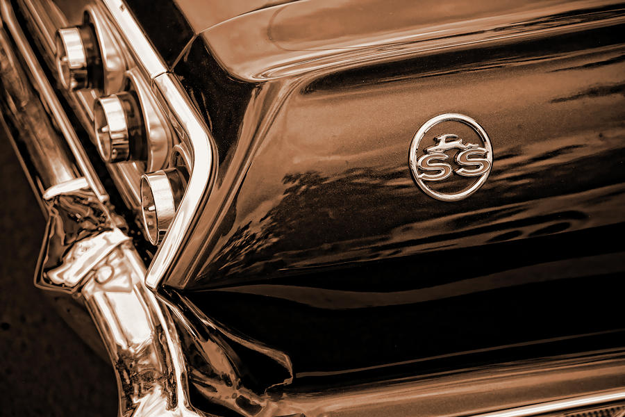 1963 Chevy Impala Ss Sepia Photograph  - 1963 Chevy Impala Ss Sepia Fine Art Print