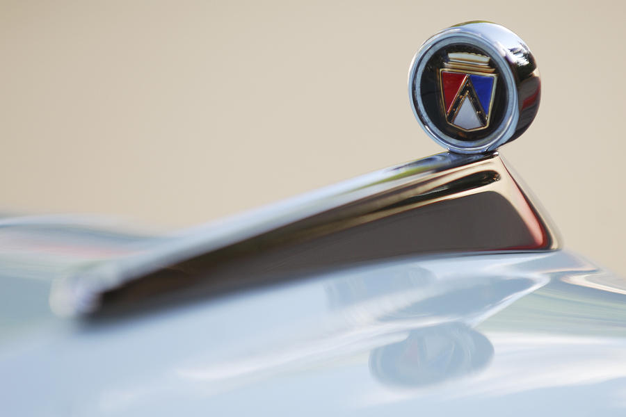 1963 Ford Falcon Hood Ornament Photograph  - 1963 Ford Falcon Hood Ornament Fine Art Print
