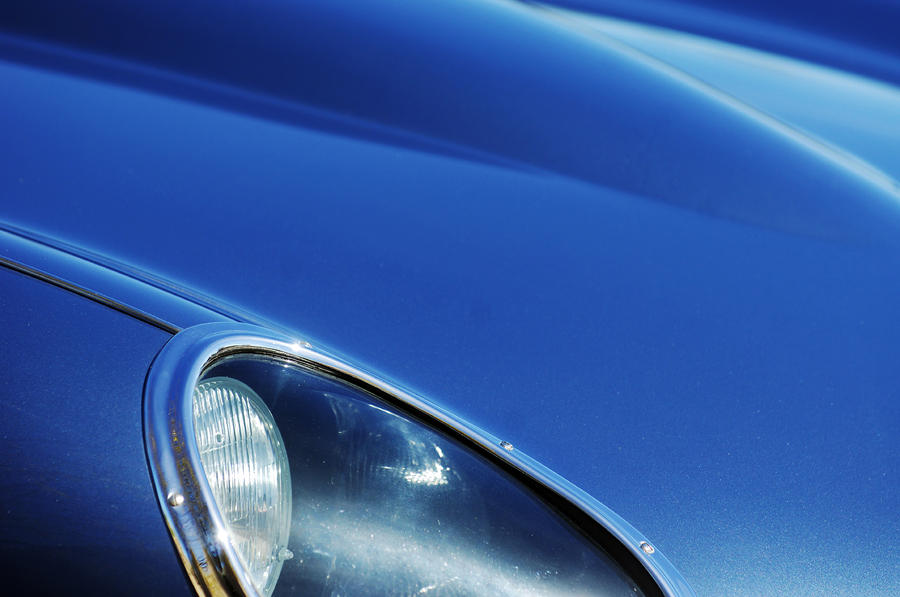 1963 Jaguar Xke Roadster Headlight Photograph