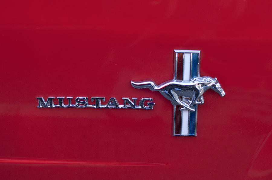 1965 Ford Mustang Emblem 4 Photograph