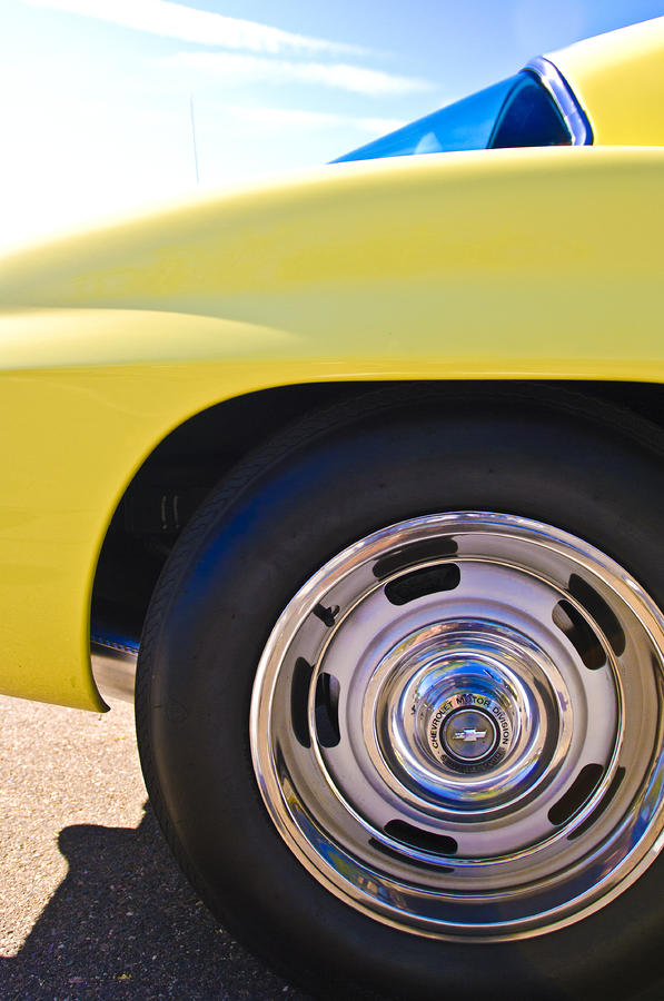 1967 Chevrolet Corvette Sport Coupe Rear Wheel Photograph  - 1967 Chevrolet Corvette Sport Coupe Rear Wheel Fine Art Print