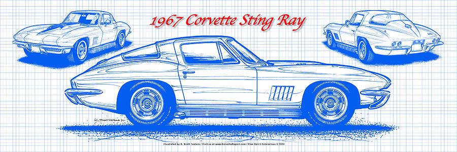 Corvette Stingray Blueprint