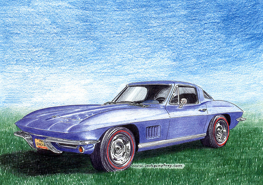 1967 corvette stingray drawing