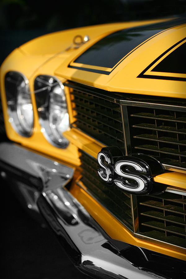 1970 Chevelle Ss396 Ss 396 Yellow Digital Art  - 1970 Chevelle Ss396 Ss 396 Yellow Fine Art Print