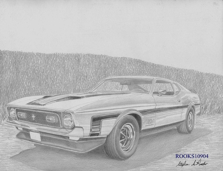 Cars Drawings Mustang Mustang Car Drawings