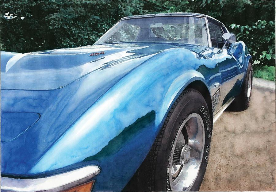 1972 Corvette Painting