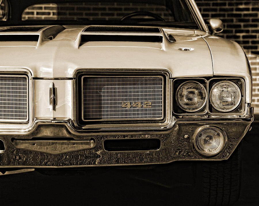 1972 Olds 442 - Sepia Photograph