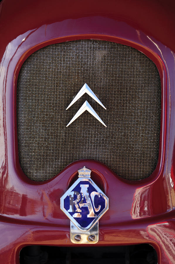 1979 Citroen 2cv Speedster Hood Ornament Photograph  - 1979 Citroen 2cv Speedster Hood Ornament Fine Art Print