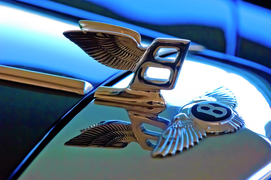 1980 Bentley Hood Ornament Photograph  - 1980 Bentley Hood Ornament Fine Art Print